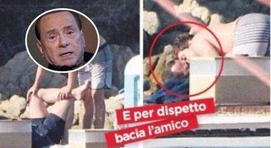 Il bacio gay di Luigi Berlusconi ... la reazione di papà Silvio