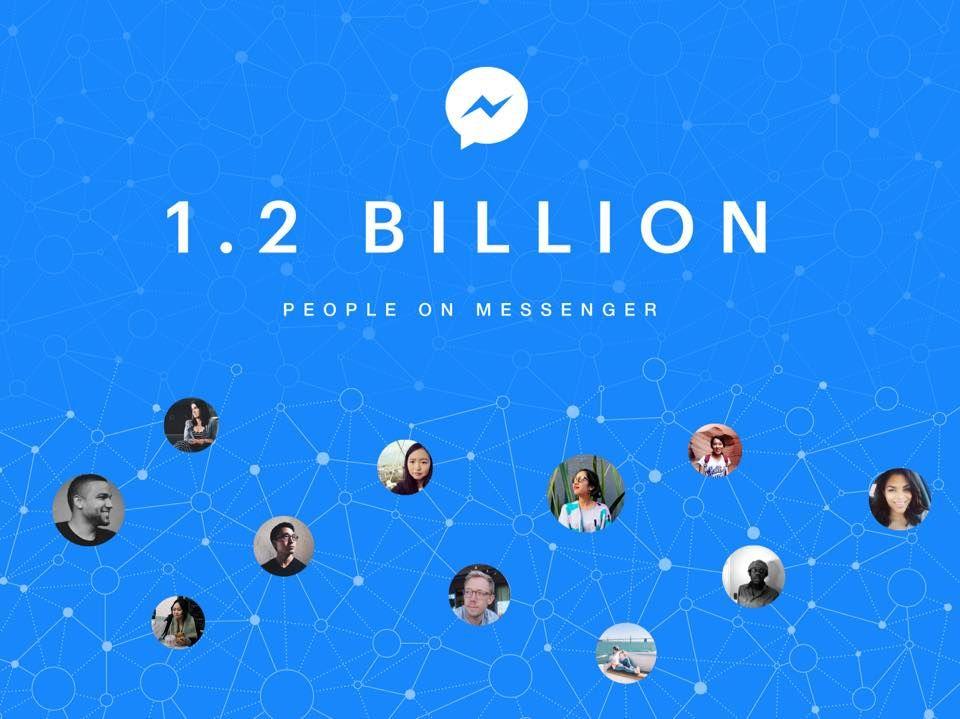 Facebook: Più di un miliardo di persone usa Messenger