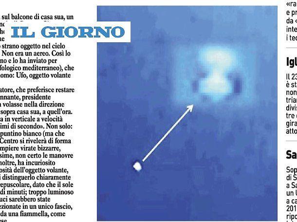 Ufo fotografato Genova confermato dagli esperti