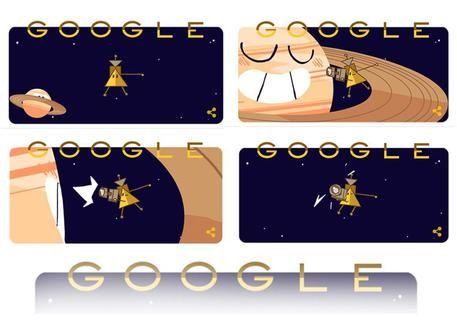 Sonda Cassini : Il Doodle di Google per la Sonda arrivata ad anelli Saturno