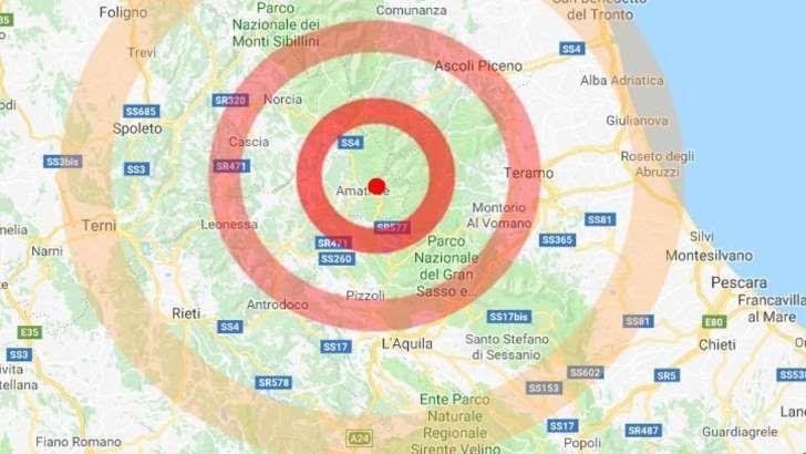 Rieti, Terremoto ad Amatrice : Scossa di magnitudo 4.2