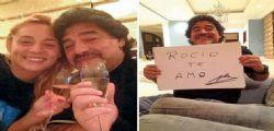 Diego Armando Maradona paga la fidanzata Rocio Oliva