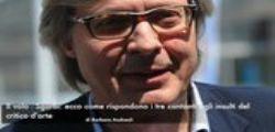 Il volo vs Sgarbi : La risposta agli insulti del critico darte