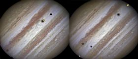 Europa, Callisto e Io : Una rara tripletta (anzi cinquina!) catturata da Hubble