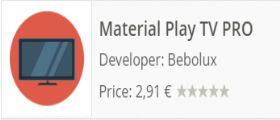 Material Play TV: Guardare la Tv sul dispositivo Android grazie a un app