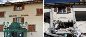 Terremoto Amatrice, il crollo dell