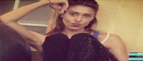 Sexy Belen Rodriguez in Palestra su Instagram