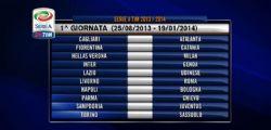 Calendario Serie A 2013/14 : Sampdoria-Juventus e Napoli-Bologna