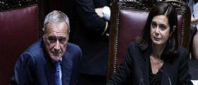 Grasso e Boldrini: Abolire i vitalizi agli ex parlamentari condannati per corruzione