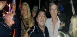 Maradona ubriaco in discoteca