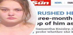 Samantha Knisley soffoca il figlio perchè non la lascia dormire