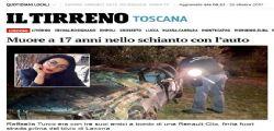 Livorno : Raffaella Turco muore a 17 anni - feriti tre amici ventenni
