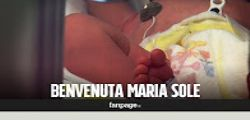 Caserta : La piccola Maria Sole abbandonata sul banco della frutta
