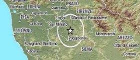 Terremoto Oggi Toscana : Scosse nel Chianti e a Firenze, la più forte di magnitudo 3.7