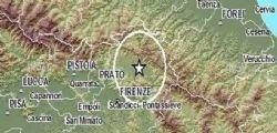 Terremoto Oggi Toscana : Scossa magnitudo 3.8 tra Firenze e Siena
