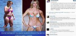 Elena Santarelli ha usato questa dieta e ha perso 9 kg in solo 1 mese?