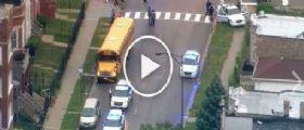 Sparatoria a Chicago : colpito al volto da una colpo mentre guida lo scuolabus