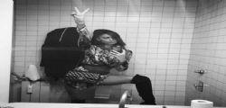 Belen Rodriguez su Instagram e il sexy selfie in Bagno!
