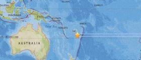 Terremoto Oggi  magnitudo 6.4 tra Fiji e Tonga