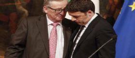 Il presidente della Commissione Ue Junker scrive a Matteo Renzi : Accolgo con favore l