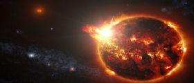 Nasa :Un grande brillamento da una piccola stella osservato da Swift