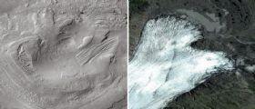 Curiosity : il cratere Gale e il ghiacciaio di 3.500 milioni di anni fa