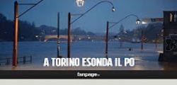 Maltempo : il fiume Po esonda a Torino, strade sommerse dall
