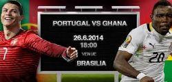 Portogallo Ghana Streaming Live Diretta Partita e Online Gratis Mondiali 2014