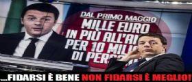 Matteo Renzi: Soldi in busta paga a maggio o sono un buffone!