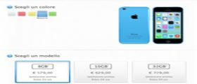 L' iPhone 5C da 8GB arriva anche in Italia disponibile al prezzo di 579 Euro