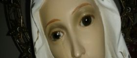 Macerata Campania (Caserta) :  La statua della Madonna piange
