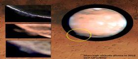 Enigma ad alta quota : un pennacchio su Marte