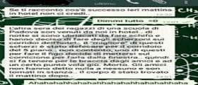 Domenico Maurantonio morto in gita, il messaggio su WhatsApp : Lo tengono poi vola giù