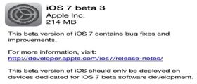 iOS 7 beta 3 : Link Download Diretti e Torrent