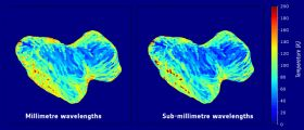 Rosetta : abbondanza di ghiaccio al polo sud di Chury