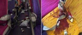 Singapore : Le immagini di un aereo investito da turbolenze