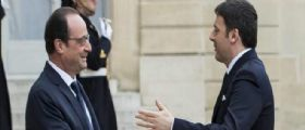 Matteo Renzi incontra Hollande all