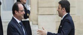 Matteo Renzi incontra Hollande all