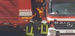 Incendio supermercato Roma dopo un furto