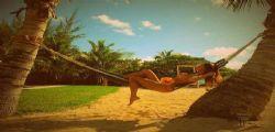 Belen Rodriguez sexy in bikini in vacanza con Santiago