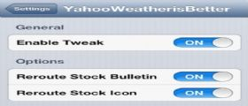 Cydia YahooWeather is Better :Impostiamo Yahoo Meteo come applicazione nativa di iOS