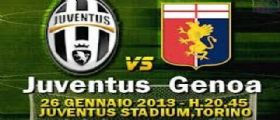 Juventus-Genoa Streaming Diretta Tv e Online Gratis