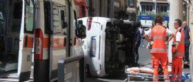 Donna travolta e uccisa a Roma : In 20 abbiamo sollevato il furgone
