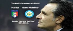 Nazionale Italia San Marino Diretta Streaming su Rai Uno