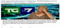 TgLa7 : La giornaista Cristina Fantoni caduta in diretta