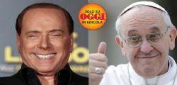 Silvio Berlusconi a Papa Francesco: Io e lei abbiamo 4 volte 20 anni!