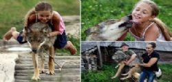 La famiglia Selekh adotta branco di lupi e li alleva come animali domestici