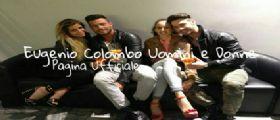 Eugenio e Francesca brindano con Gabriela Barrios