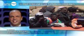 Ministro Alfano : Migranti in aumento ma non c