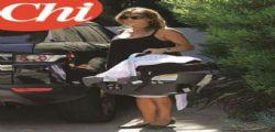 Elisabetta Canalis a Los Angeles con la piccola Skyler Eva